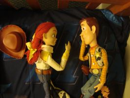 Woody and Jessie talking by spidyphan2