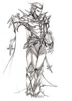 Raziel line art 09 by NightmareGK13
