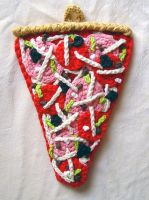 crochet supreme pizza by meekssandygirl