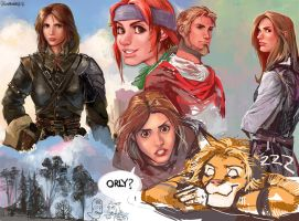 character color sketches by Remainaery