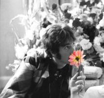 john lennon flowers by Ashley-kk