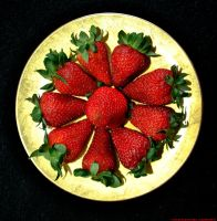 a strawberry plate by rockmylife