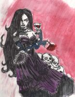 A Goth Vampire Girl by C4L