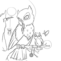 Wisdom of the Owls free lines by Tulpi
