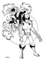 Wolverine and Nightcrawler by BillWalko