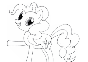 Pinkie Pie Drawing by Tanail