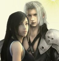 Tifa and Sephiroth by nasiamarie88