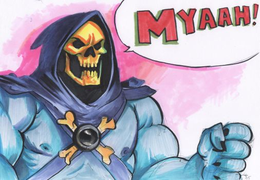 Inktober 9 - Skeletor! by the-murdellicious