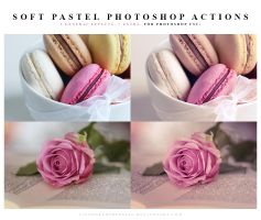 Photoshop Soft pastel Actions by lieveheersbeestje