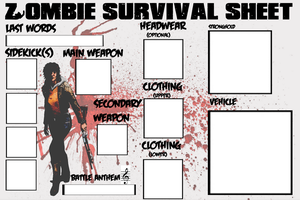 Zombie Survival sheet girls by Bou-x3