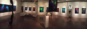 Panorama of My Art Show by ChrisPanatier