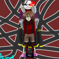 Con!Fell Sans and Frisk by Abbinormal25