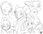dogz sketches by phation