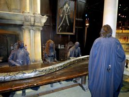 Death eater meeting with lord Voldemort and Nagini by Sceptre63
