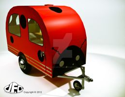 Mini Bike Camper Ladybug style by sicklilmonky