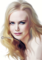 nicole kidman painting by perlaque