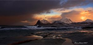 Seascape from Flakstad by steinliland