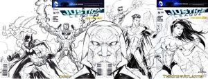 JLA full sketch cover by KomicKarl