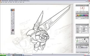 'Giant Robot' redesign WIP 2 by torsoboyprints
