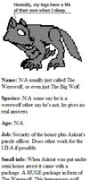 The werewolf character profile by Askre5