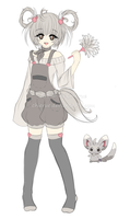 Minccino Gijinka Design [Sketch] by Chierue