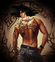 Goku tattoo session: back by srokaML