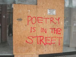 Poetry is in the streets by Volitaire