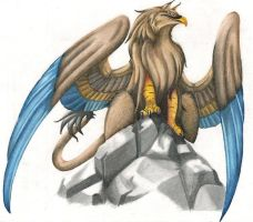Gryphon Fellric by praxcrown5