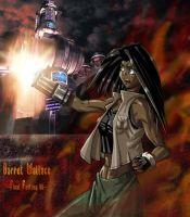 Barret - FF7 - as a girl by LaughingOrc