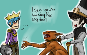 I see you're walking the dog by LacotaWolf