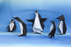 origami penguins by zu-sha