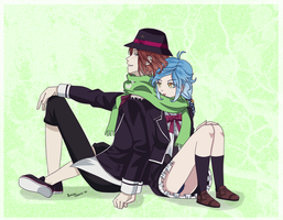 Diabolik lovers - Kaira and Laito by ShiroCup