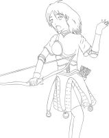 Random RO Archer Girl lineart by fire-doused