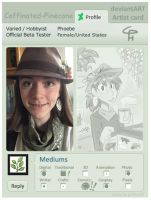 Artist card by Caffinated-Pinecone