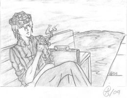 Classy Dude sitting on a bench by Comic-Cywink