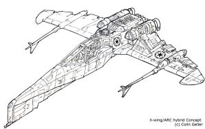 Star Wars Hybrid 1 -line work- by MeckanicalMind