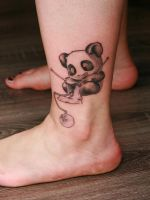 Panda Tattoo by Angelique Grimm by Inkage-Tattoo-Crew