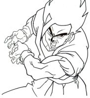 gohan lineart by trunks24
