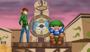 Goron Link in Clocktown by SaintBree
