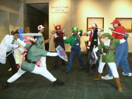 Super Smash Bros 'Naka-Kon 2012' by MissLink8908