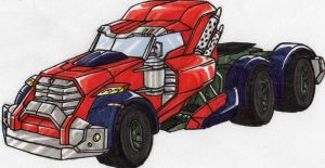 LINKMASTER Optimus Prime alt mode by kishiaku