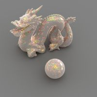Stanford dragon in Opal by davidbrinnen