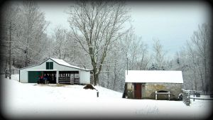 A Barn In Winter Snow by SirensMidnightSong