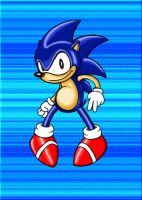 Old Skool Sonic by muffinpoodle