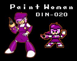 Paint Woman by erik-red