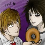 l is for donut by xmontrealx