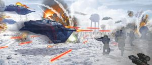 Battle of Hoth by JacobCharlesDietz