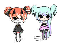 Pastel Goth Babes- Auction CLOSED by chocadopt