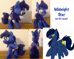 Oc Midnight pony plushie by BlueAcrylicFox