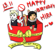 Happy Birthdaaaay Hiraaaaaaa~ by LuckyPaw